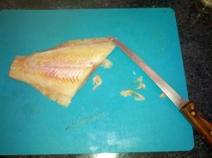 skinned flounder